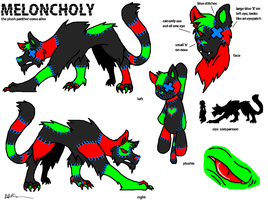 Daxy's pet, Meloncholy by DeathDragon13