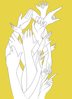 tower of hands. by Faezer