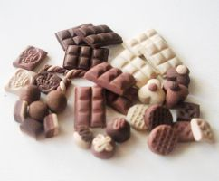 MICRO mini CHOCOLATE set by LittleCalorieGallery