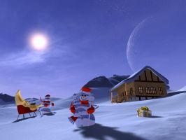 Winter Holiday Planet by armands