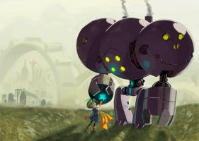 UPDATED Girl and her Robot by RyanJampole