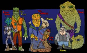 Star Wars Motley O.C.'s by Lordwormm