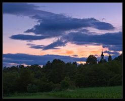 Sunset over Glusinje by d-minutiv