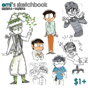 SKETCHBOOK | FEBRUARY 2016 - APRIL 2016 by emifail