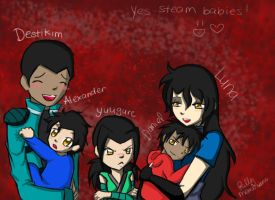 Family Poitrate - Comish by KittyMembrane