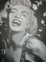 Marylin Monroe White Charcoal by SCRUBZLOTUS
