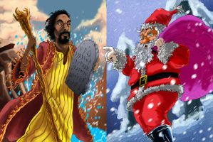 Fan Art: Moses Vs Santa Claus /work in progress by SemajZ