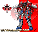 Starscream Cyborg- Face Shield by skywarp-2