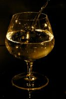 Plashing in the glass - sepia by Dodephine
