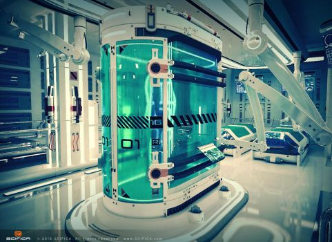 Sci fi Laboratory Interier room 3D Model by A-Cermak