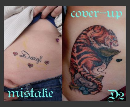 Tiger Cover Up Tattoo by Puku