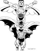 CLASSIC EARTH 2 BATMAN AND SUPERMAN by FanBoy67