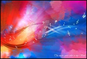 The music gives color to... by Calaymo