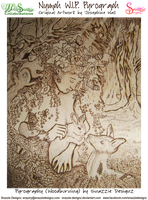 Nymph Pyrograph -  Work In Progress by snazzie-designz