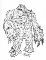 Kryptonite Clayface LineArt by edcomics