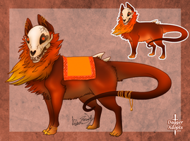 Skull Critter Adopt - SOLD by Daggerstale-Adopts