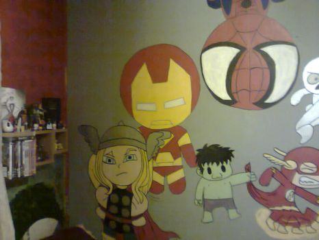 part of my wall so far by 123deaththekid