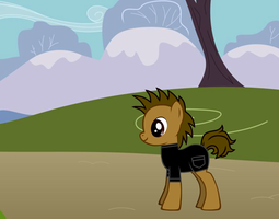 Me in pony form in my TUFF Outfit by Callewis2