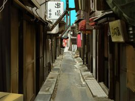 Back alley. by ougaming