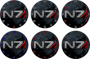 Mass Effect N7 Clock Designs by ChrisInVT