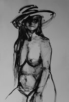 DRAWING: Stenia in a hat by villainesayre