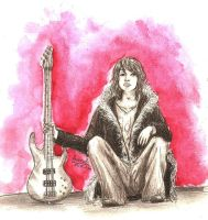 Yuyan with bass guitar by Anoroth
