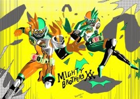 Kamen Rider Ex-Aid Level 20 Mighty Brothers XX by Fahrizal-Senpai