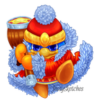 Kirby Stickers - King Dedede by JessySketches