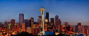 Painted Space Needle by UrbanRural-Photo