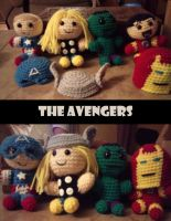 The Avengers Amigurumi by Vulkingzor