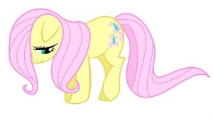 Shy Posey Vector (Fluttershy Concept Art) by CritterInvasion