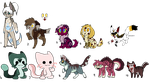 Clearence Adopts (OPEN) by Neon-Spots-Adopts