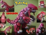 GROUDON PAPERCRAFT by locombia