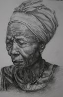 Old black woman by Tadadaaamm