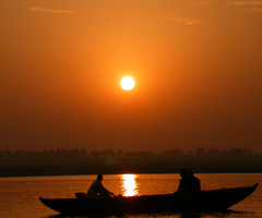 Ganges River in India near Varinasi by dannypyle