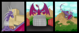Cynder Climbs 1/2 by Mew-tew