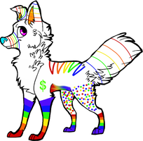 Rainbow Adopt-OPEN by Wolfies--Adopts