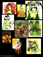 Toph tribute -past accounts- by Dark-Ozuka