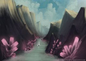 crystal canyon by Syntetyc
