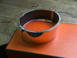 Silver Clamp bracelet by The-Silver-Forge