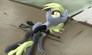 Quiet Derpy by AaronMk