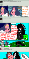 Bad end for a chat 2 by pickiny