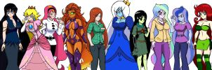 Characters with gorgeous long hair pt2  Remastered by WaRrior9100