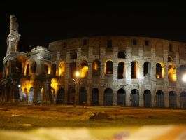 Colosseum in Night STOCK by Chiron178