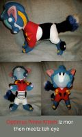 Optimus Prime Kitty Plush by WhittyKitty
