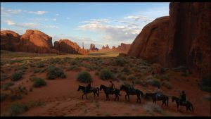 Horses in Monument Valley by culdepoule