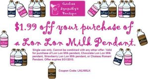 Lon Lon Milk Pendant Coupon by CarelessSympathy