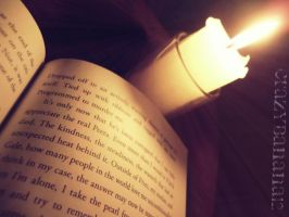 365 Project-Day 4: Reading by Candle Light by hourglass-paperboats