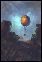 The Balloon by Juhupainting