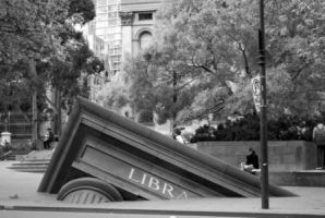 State Library Monument by darkened-storm
